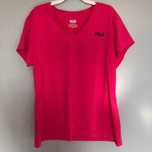 Hot Pink Fila Workout T!!